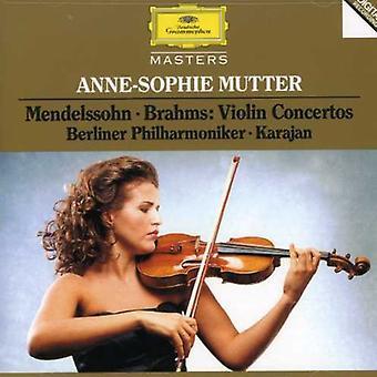 Mutter/Karajan/Berlin Philharmonic Orch. - Mendelssohn, Brahms: Violin Concertos [CD] USA import