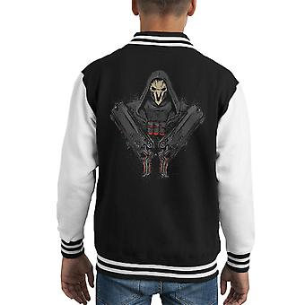 Overwatch Reaper morte viene Varsity Jacket capretto