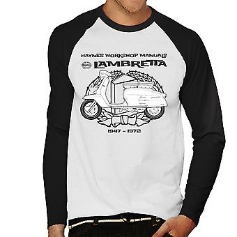 Haynes Owners Workshop Manual Lambretta 3 Men's Baseball Long Sleeved T-Shirt
