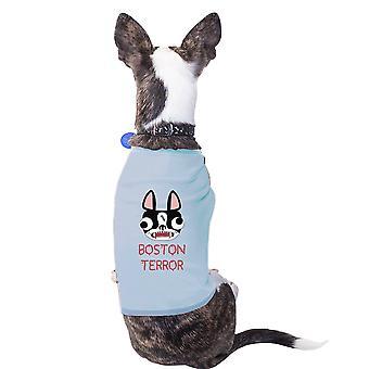 بوسطن الإرهاب جحر الكلب الرسم لطيف قميص هدية للكلاب الصغيرة
