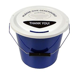 Charity Money Collection Bucket 5 Litres - Blue