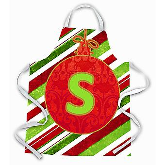 Christmas Oranment Holiday Initial Letter S Apron