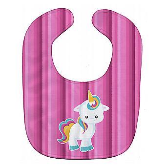 Carolines Treasures  BB6806BIB Pink Stripes Unicorn Baby Bib