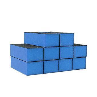 The Edge Nails Blue Sanding Block 300 Grit (10 Pack)