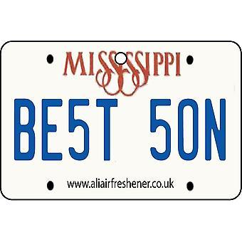 Mississippi - melhor filho matrícula refrogerador de ar de carro