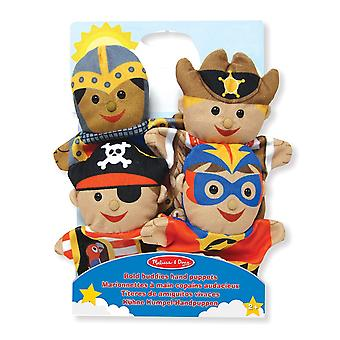 Melissa & Doug vet vrienden marionetten Knight piraat Sheriff superheld