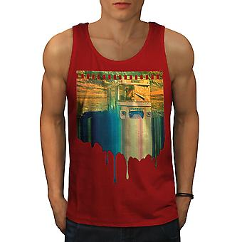 Travel Nowhere Men RedTank Top | Wellcoda