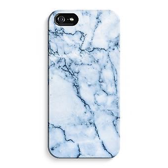 iPhone 5 / 5S / SE fuld Print sag (blank) - Blue marble