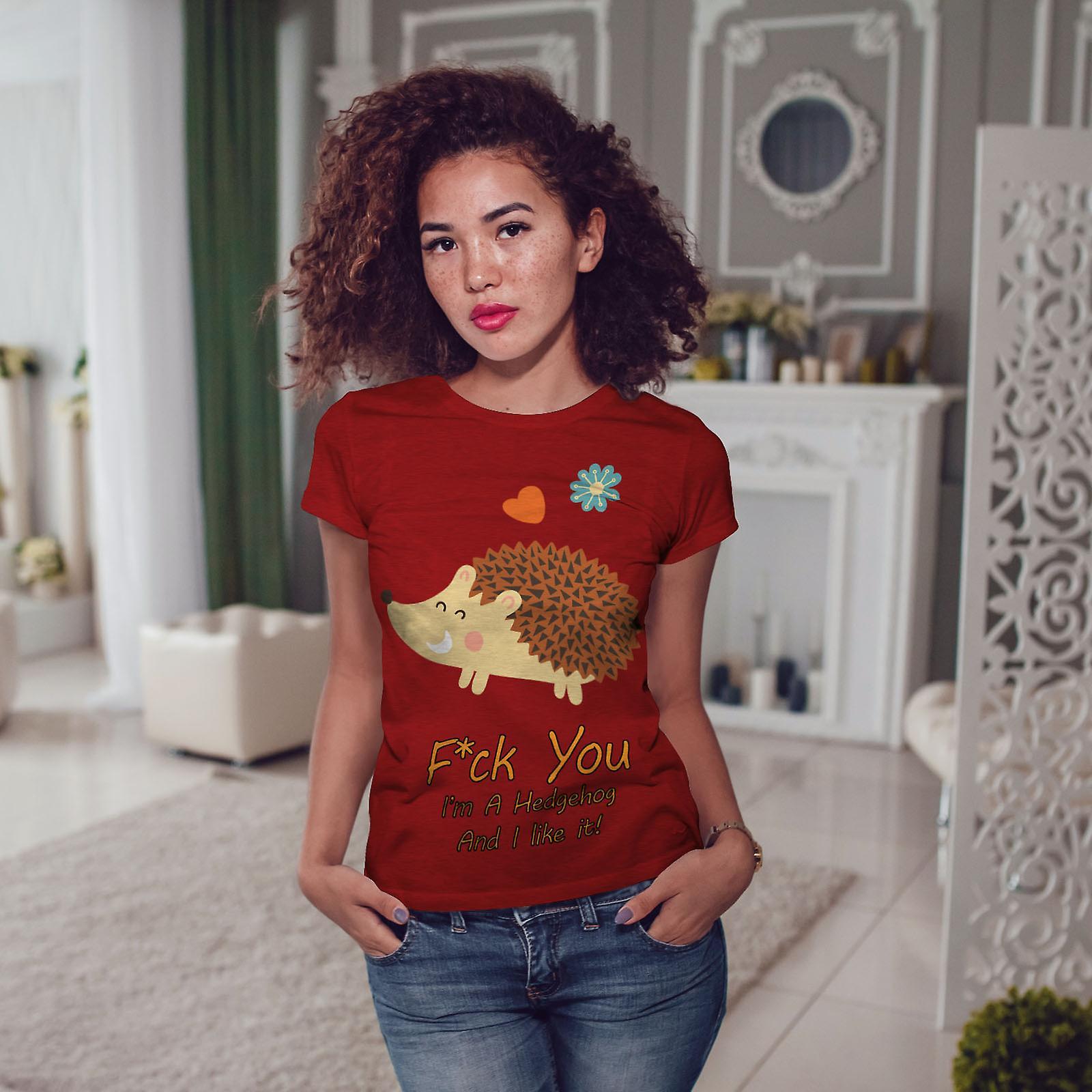 Hérisson Cool Joke RedT-chemise femme   Wellcoda