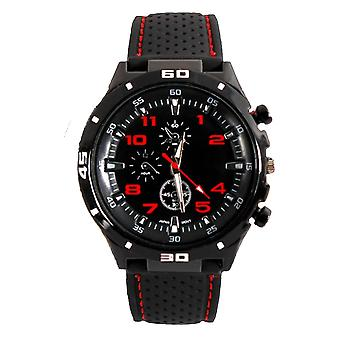 Mens Analogue Sport GT Watch Black Red Grand Touring