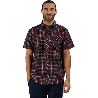 Regatta Mens Deakin II Coolweave katoen korte mouw knop ingedrukt Shirt