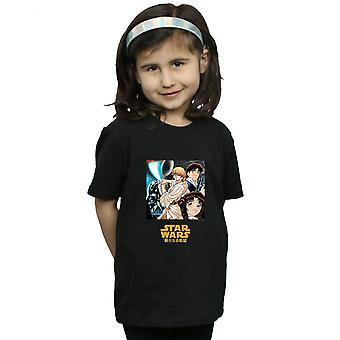 Star Wars dievčatá charakter anime T-shirt