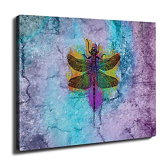 Colorful Insect Animal Wall Art Canvas 40cm x 30cm | Wellcoda