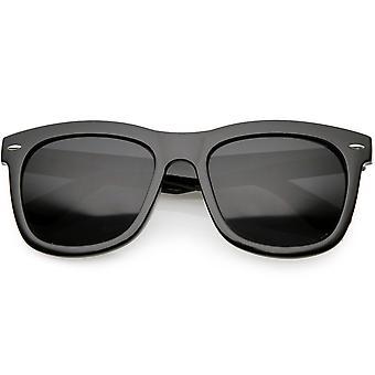 النظارات الشمسية ذات الحواف القرن ية واسعة الذراع المعدنية ريفت سكوير عدسة 56mm