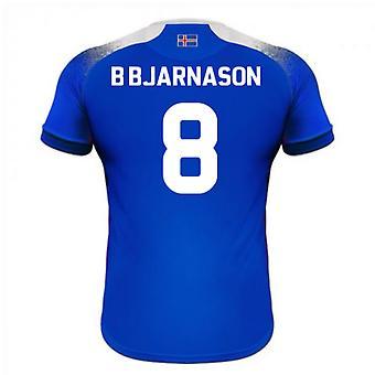 2018-2019 Islanti koti Errea jalkapallopaita (B Bjarnason 8)