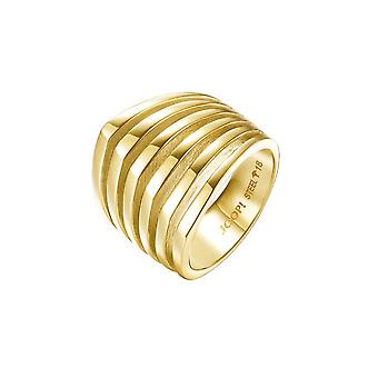 Joop vrouwen ring edelstaal goud lijnen JPRG10645B1