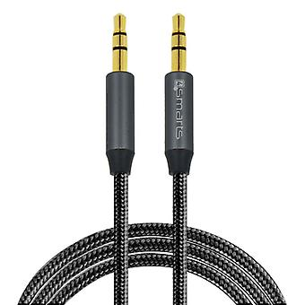 4smarts 3, 5mm stereo audio cable SoundCord 1 m textile black