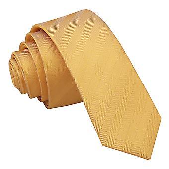 Primrose gelb Fischgrat Seiden schmaler Krawatte