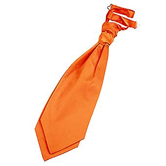 Bränd Orange oformaterad Satin pre bundet bröllop Cravat