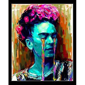 Frida Kahlo Paint Painting Tears Poster Print