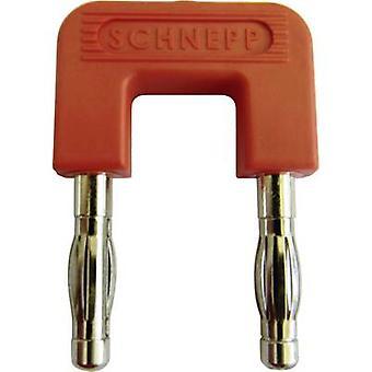 Schnepp 19/4rt Shorting plug Red Pin diameter: 4 mm Dot pitch: 19 mm 1 pc(s)