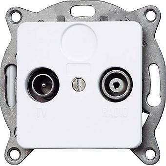 Kopp Insert TV, Radio socket Europa Arctic white, Matt 110213082