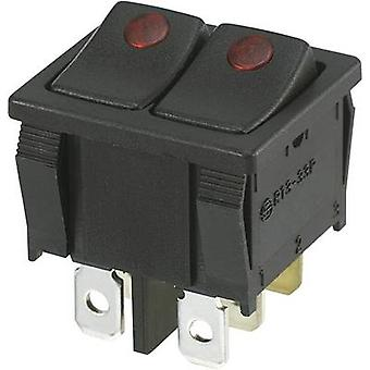 SCI Toggle switch R13-33PB2-02 250 V AC 10 A 2 x Off/On latch 1 pc(s)