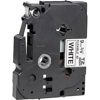 Labelling tape (flexible) Brother TZe-FX, TZ-FX TZe-FX221 Tape colour: White Font colour:Black 9 mm 8 m