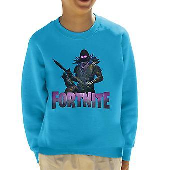 Fortnite Raven Skin fegyverrel kölyök ' s Sweatshirt
