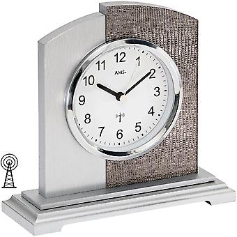 modern table clock radio design synthetic leather and aluminium application