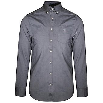 Gant zwarte Oxford Regular overhemd