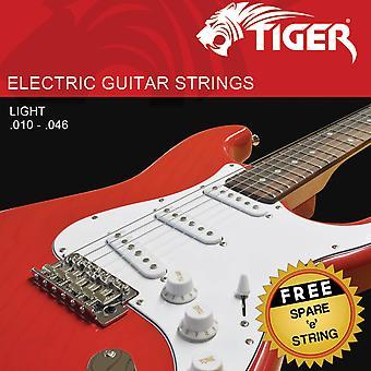 Tiger Electric Guitar Strings Light - 10 - 46