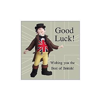 Union Jack käyttää paras brittiläinen onnea-kortti