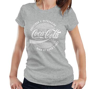 Official Coca Cola Circle Logo White Text Women's T-Shirt