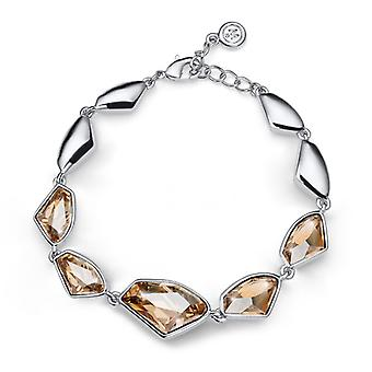Oliver Weber armband galaktiska Rhodium, Golden Shadow, geometriska Design