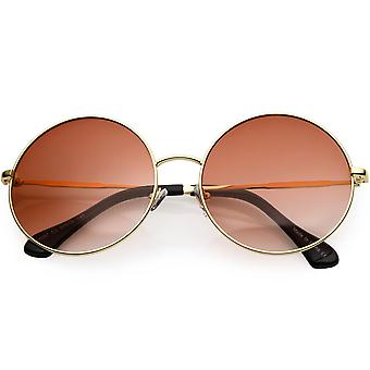 Retro Oversize Round Sunglasses Color Tinted Lens 60mm