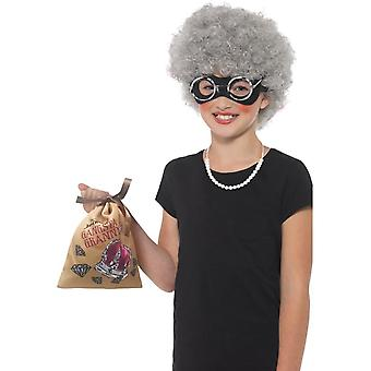 David Walliams Deluxe Gangsta Granny Instant Kit, naamiaispuku