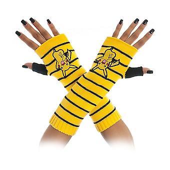 Pokemon Unisex Pikachu gestreepte Vingerloze handschoenen One Size geel/zwart (KG1AETPOK)