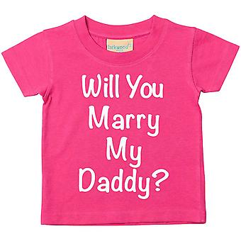 Will You Marry My Daddy? Pink Tshirt