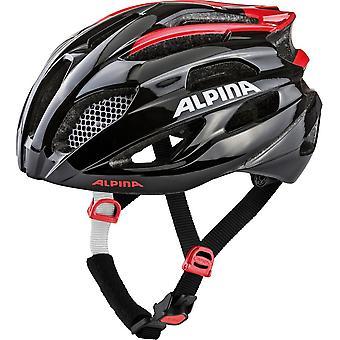 Alpina Fedaia casca biciclete//negru/rosu