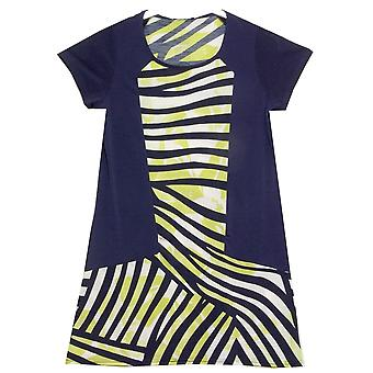 MARBLE Tunics 4972 Blue With Lime