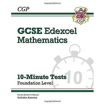 Nouveau Grade 9-1 GCSE Maths Edexcel 10 minutes essais - fondation (y compris les réponses)