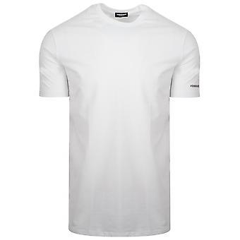 DSQUARED2 Underwear White Hashtag Logo T-Shirt