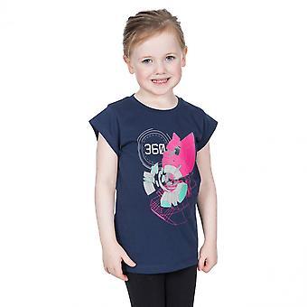 Trespass Girls Leia Graphic Short Sleeve Cotton T Shirt