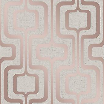 Decoración fina cuarzo metálico rosa oro crema brillo textura papel pintado de vinilo