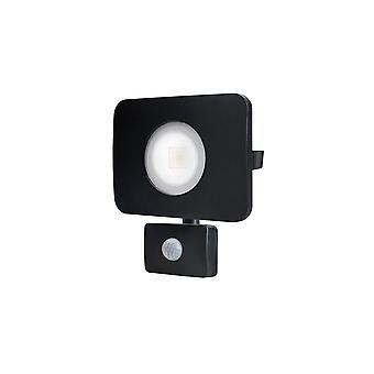 Integral - LED Floodlight 30W 3000K 2700lm PIR Sensor / Override Matt Black - ILFLC135POV