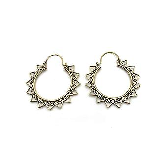 Avery and May Handmade Sunburst Hoop Earrings for Women
