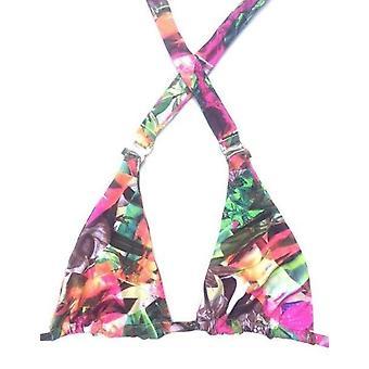 Buzios Bikinis, Pink Tropical Orchid Bikini Top - Halter Style