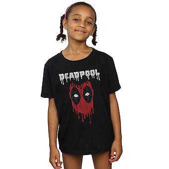 Marvel Girls Deadpool druipend hoofd T-shirt