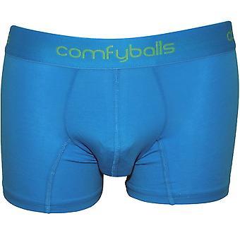 Comfyballs Cotton Stretch Boxer Trunk, Hawaii Blue